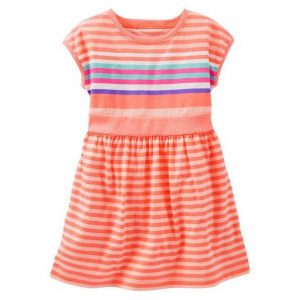 2-piece neon striped dress
