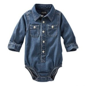 2-pocket denim bodysuit