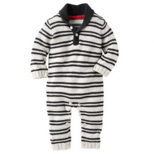 Hooded cable-knit coveralls
